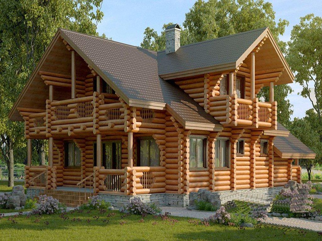 Деревянный дом из бревен