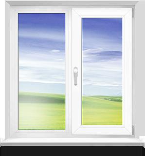 Двухстворчатое окно фото