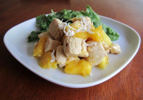 салат куриный с ананасами фото