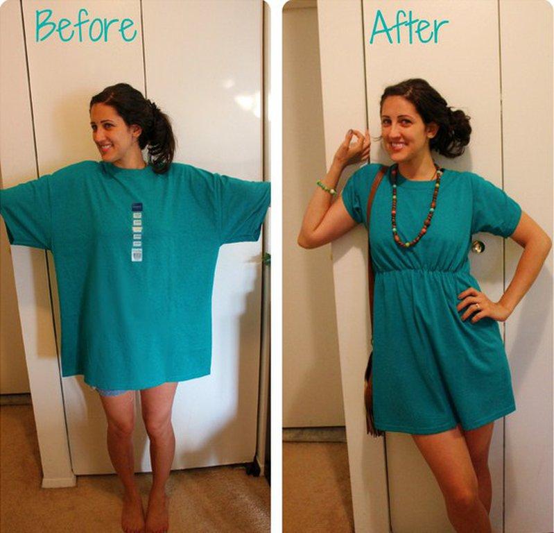 Как правильно сшить футболку для девушек