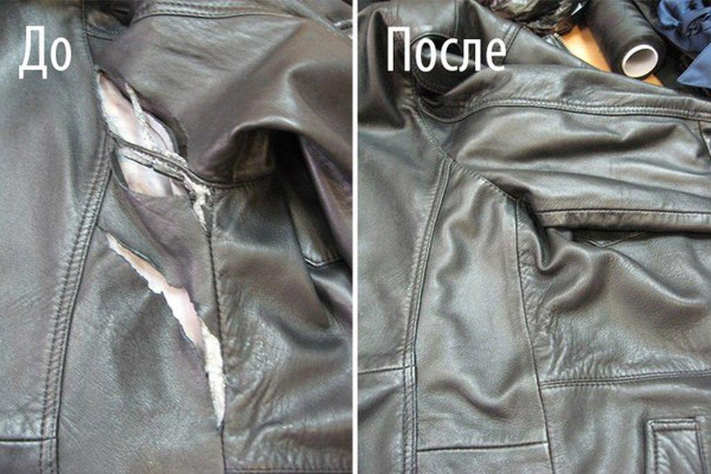 Ремонт воротника куртки из кожзаменителя своими руками 6